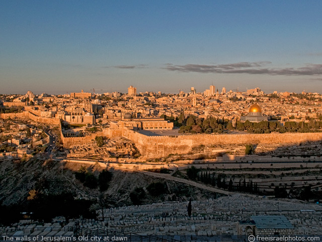 The walls of Jerusalem's old city