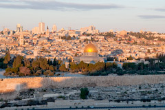 The old city of Jerusalem at dawn