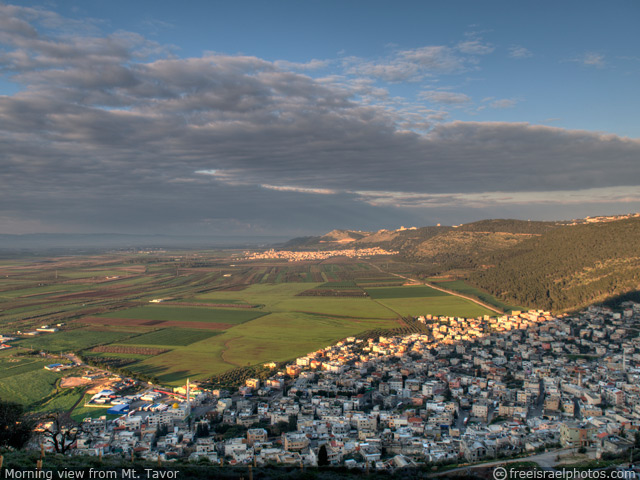 Morning view from Mt. Tavor