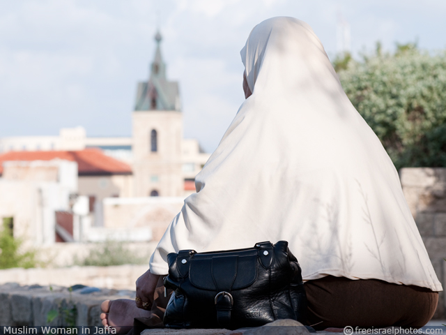 Muslim Woman in Jaffa
